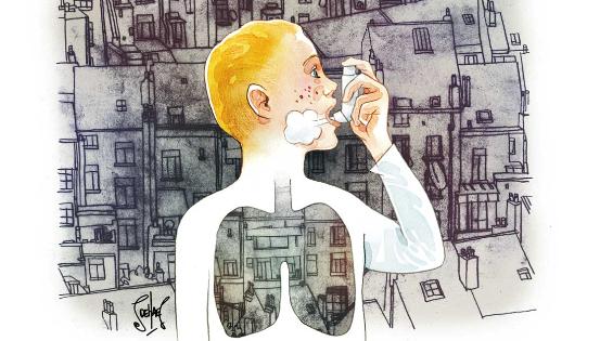 Dès que le niveau de pollution augmente, l'achat de produits comme les bronchodilatateurs et corticoïdes part lui aussi à la hausse dans les pharmacies. © S. Dehaes